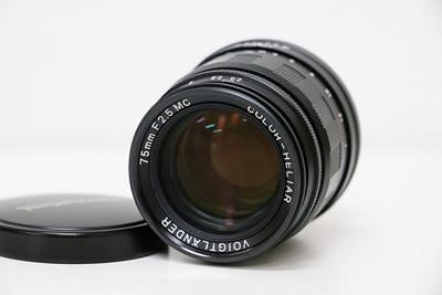 Voigtlander フォクトレンダー COLOR-HELIAR 75mm F2.5 MC レンズ