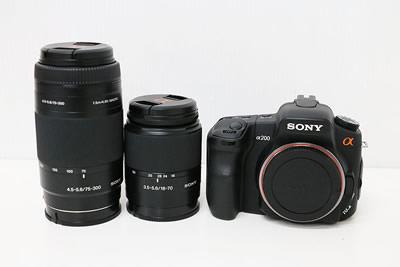 SONY ソニー α200 DSLR-A200W ダブルレンズキット デジタル一眼レフ