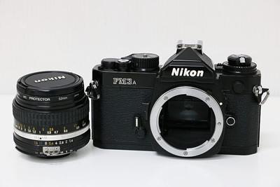 Nikon ニコン FM3A ブラック+50mm レンズ 一眼レフカメラ