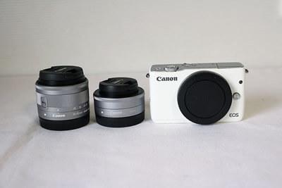 【買取実績】Canon キャノン EOS M10 ダブルレンズキット フェイスジャケット SDカード付き