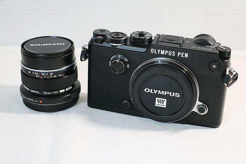 【買取実績】OLYMPUS オリンパス PEN-F 12mm F2.0 レンズキット ブラック 付属品完備