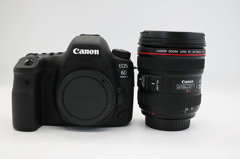 【買取実績】Canon キャノン EOS 6D Mark II EF24-70 F4L IS USM レンズキット|中古買取価格132,000円