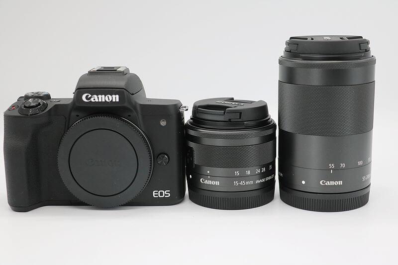 【買取実績】Canon キャノン EOS Kiss M ダブルズームキット|中古買取価格62,000円