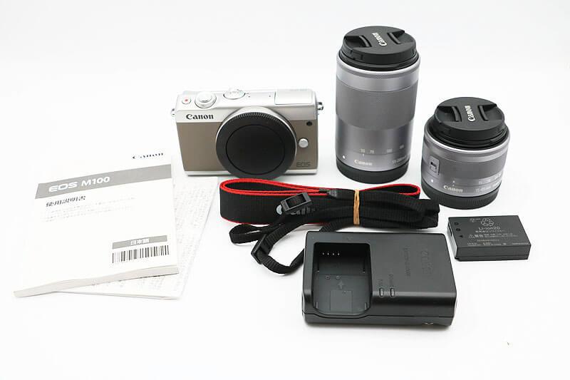 【買取実績】Canon キャノン EOS M100 ダブルズームキット グレー
